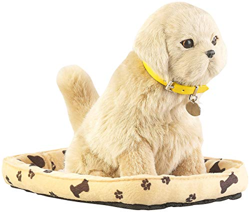 infactory Roboterhund: Funktions-Plüschhund mit Hundekorb,...