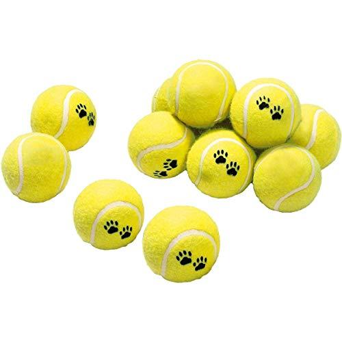 Karlie Spielzeugtrommel mit 12 Tennisbällen ø: 6 cm gelb