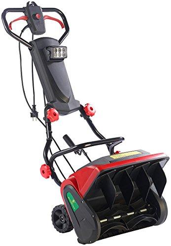 AGT Handschneefräse: Elektrische Schneefräse mit LED-Beleuchtung SB-213.e, 1.300 W...