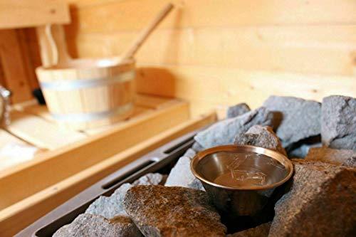 Sauna Verdampferschale/Aromaschale aus Edelstahl inkl. GRATIS 10g Mentholkristalle -...
