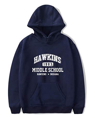 SIMYJOY Unisex Hoodie Hawkins Middle School Pullover 1980er Jahre...