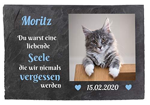 wandmotiv24 Gedenktafel Tiere Schiefer, 30x20cm, Wetterfest,...