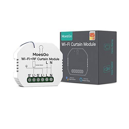MoesGo Wlan RF433 Alexa Mini Smart Rolladenschalter Modul, WiFi...