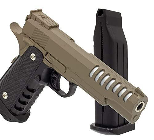 B.W. Softair Gun Airsoft Pistole + Munition | PV36-TAN Profi...