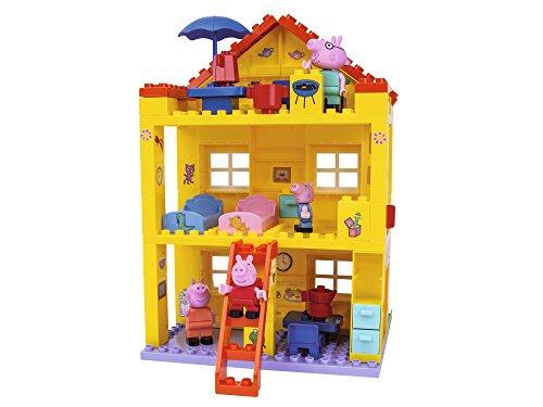 BIG Spielwarenfabrik 800057078 Peppa Pig Haus - Peppa´s House, Construction Set,...