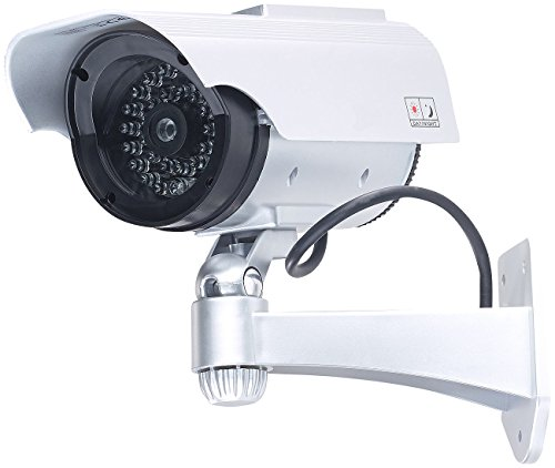 VisorTech Kamera Attrappen: Überwachungskamera-Attrappe mit...