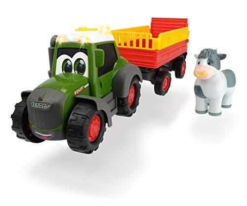 Dickie Toys 203815004 Happy Fendt Animal Trailer, Traktor für...