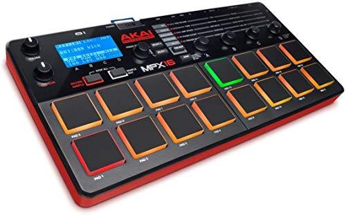 AKAI Professional MPX16 - Portabler Finger Drumming Sample Pad...