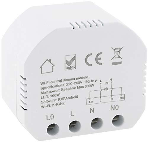 Wifi Unterputz Schalter mit Dimmer 250V 10A Einbau-Modul...