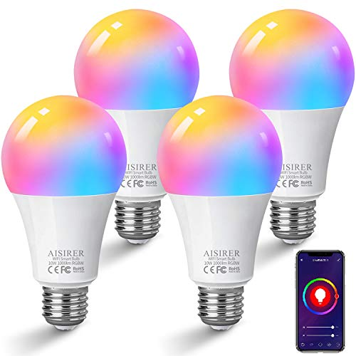 Alexa Glühbirnen E27 Smart LED-Lampe, 10W 1000LM AISIRER WLAN...