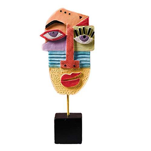 Baoblaze Kreative Abstrakte Gesicht Skulptur Figur Harz Handwerk...