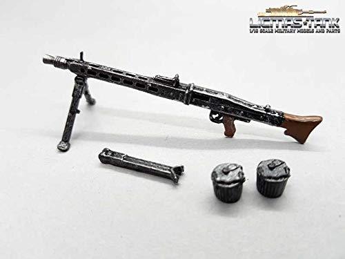 1/16 MG 42 deutsches Maschinengewehr Set Wehrmacht WW2 Metall...