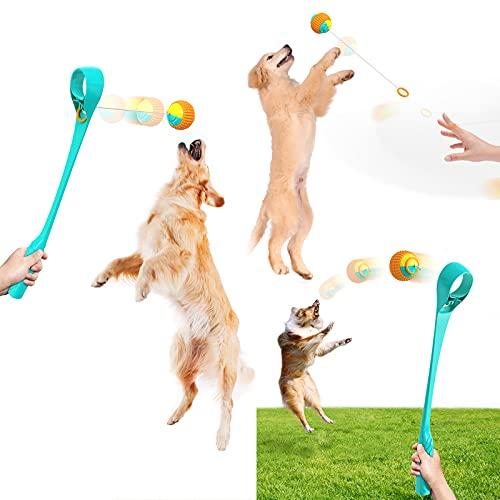 Tomeven Ballwerfer Hundespielzeug Hundeball-Launcher, 2 in 1...