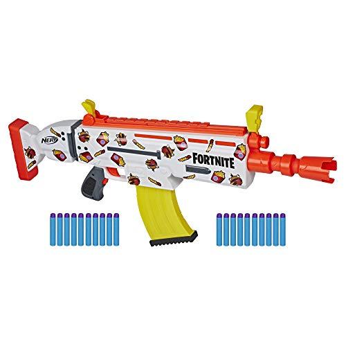 Nerf Fortnite AR-DURRR Burger Blaster – Sticker zum Anpassen,...