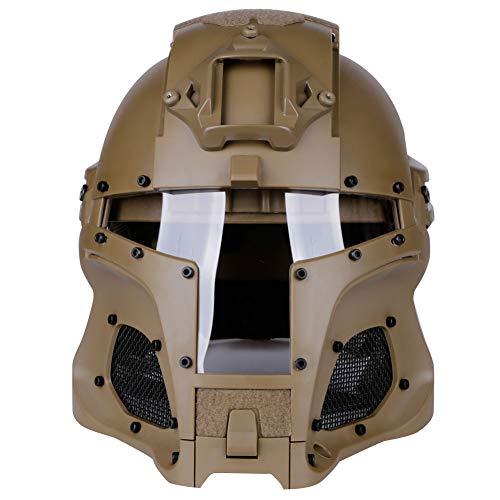 Mittelalterlicher Iron Knight Tactical-Helm, NVG-Militärhelm mit...