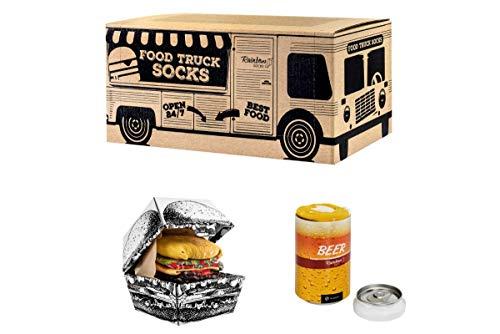 Rainbow Socks - Damen Herren Lustige Food Truck Box Geschenk- 3...
