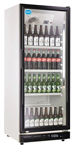 wDesigns Gastro Kühlschrank Flaschenkühlschrank Glastür 310...