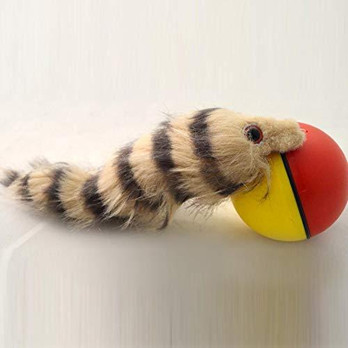 UxradG Wiesel rollender Ball, Haustierspielzeug, motorisierter...