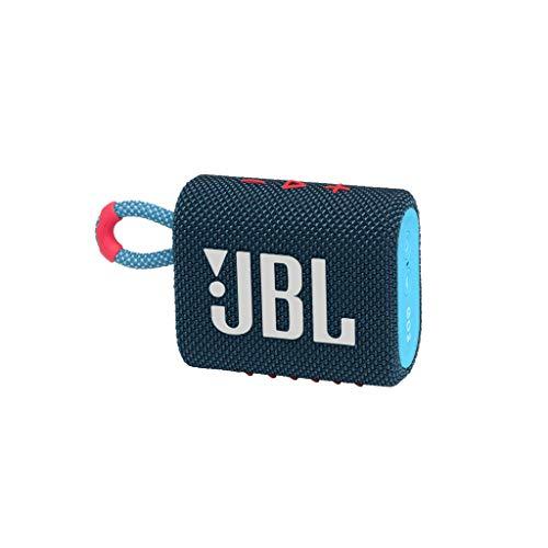 JBL GO 3 kleine Bluetooth Box in Blau und Pink – Wasserfester,...