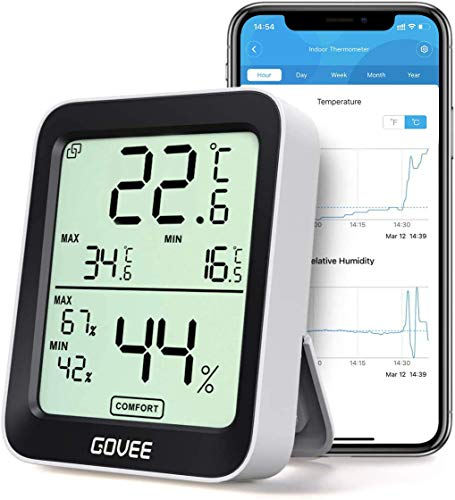 Govee Thermometer Hygrometer, Mini LCD Digital Thermometer...
