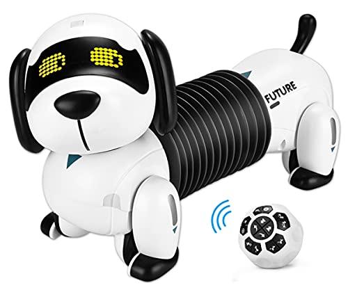 ALLCELE Roboter Hund Kinderspielzeug, Ferngesteuerter Folgen...