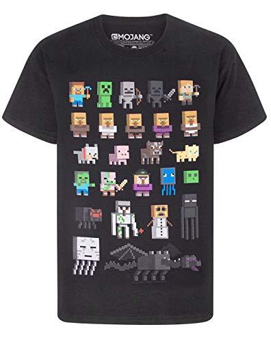 Minecraft Jungen Minecraft kurzärmligen T-Shirt Schwarz T-Shirt...