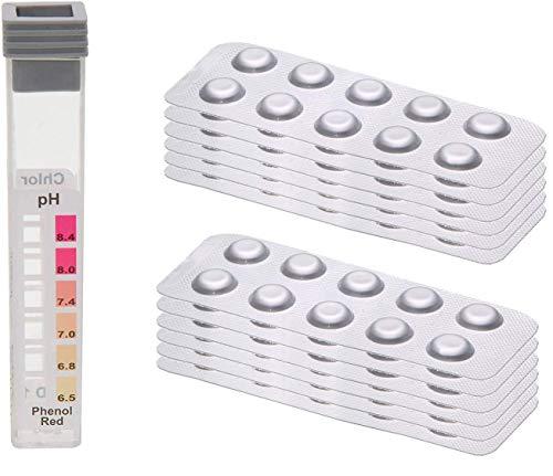 POWERHAUS24 120 Testtabletten - je 60 x pH-Wert Phenol Red und 60...