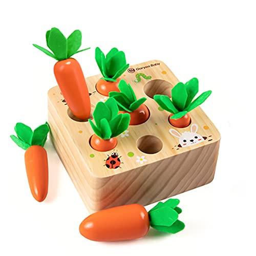 Holzspielzeug ab 1 Jahr | Baby Motorik Spielzeug für 12 Monate...