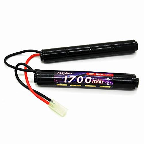 FCONEGY Softair Akku 9.6V 1700mAh Nunchuck Pack NiMH Batterie...