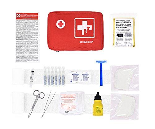 Erste-Hilfe-Kit für Haustiere (enthält ANTISEPTISCHE LÖSUNG,...