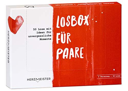 Herzmeister Losbox für Paare I Das Paar-Geschenk für 50 unvergessliche Momente I 50...