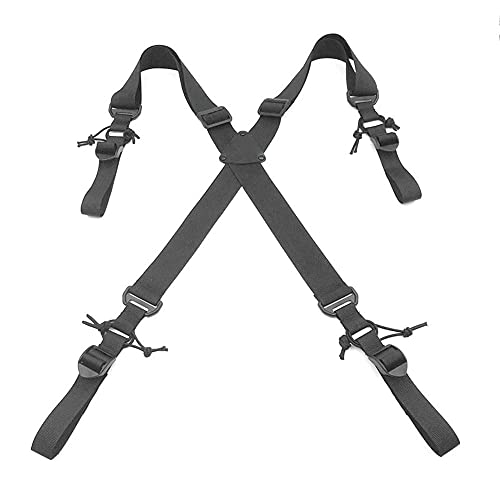 MKIU Tactical X-Back Suspenders, Unisex's Heavy Military Support...