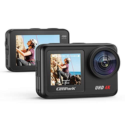Campark Action Cam 2 Bildschirme mit 4K 20MP WiFi Action Kamera...
