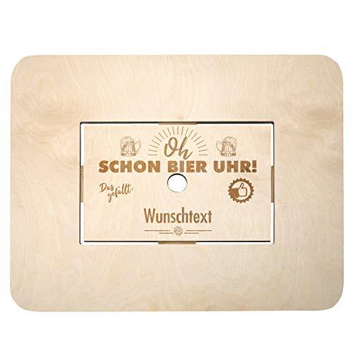 Herz & Heim® Bierkasten Stehtisch Bierkastenaufsatz mit...