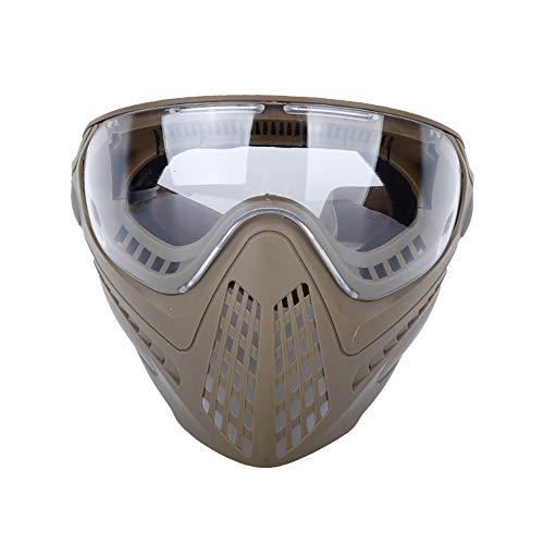 OAREA Taktische Vollmasken Airsoft Helmmaske mit austauschbarer Schutzbrille und Helmkupplung