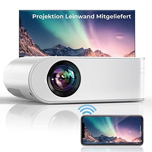 YABER WiFi 7000 Lumen Mini Beamer 1080P Full HD Tragbar Video...