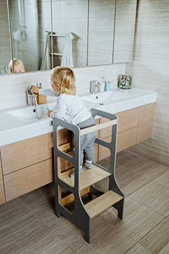 Duck WoodWorks Küchenturm für Kinder - Moderner...