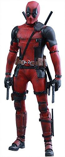 Hot Toys Deadpool-Figur (rot), Maßstab 1:6, Filmfigur