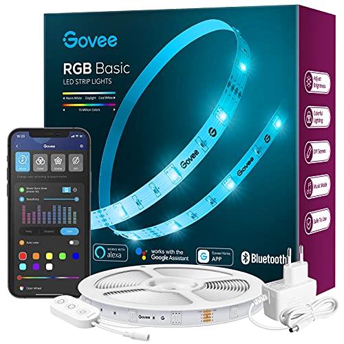 Govee LED Strip 5m Alexa Smart RGB WiFi LED Streifen, LED...