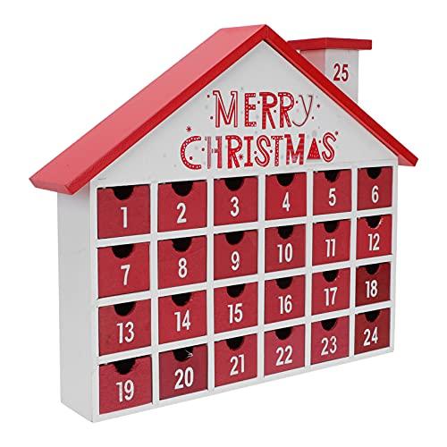 NOLITOY Holz Countdown zu Weihnachten Frohe Weihnachten...