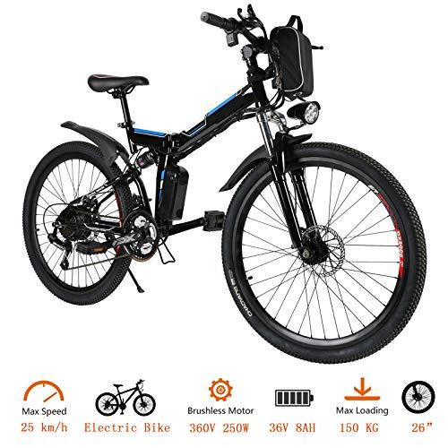 fiugsed Elektrofahrrad Mountainbike 26 Zoll E-Bike 36V, 250W...