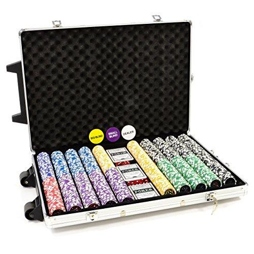Trolley Pokerkoffer 1000 OCEAN CHAMPION Chips Laser Pokerchips...