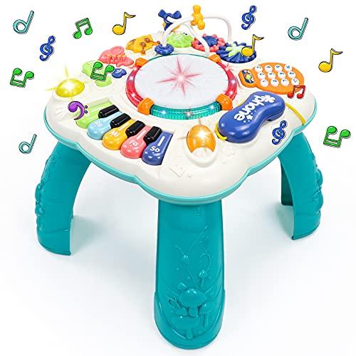 Fajiabao Spieltisch Baby Spielzeug 6 in 1 - Kinderspielzeug ab 2...