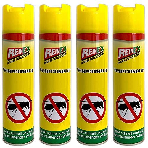HAC24 4er Set Wespen Spray 400 ml Wespenspray Wespennest...