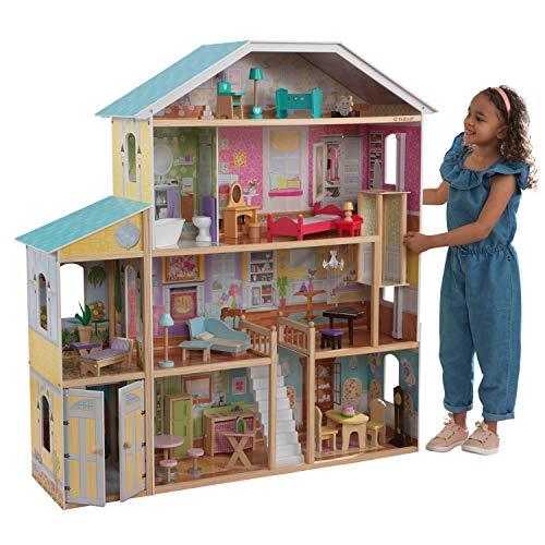KidKraft 65252 Puppenhaus Majestic Mansion, bunt [Exklusiv bei...