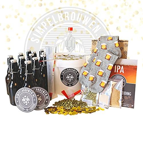 SIMPELBROUEN Bierbrauset Vater Geschenkbox - IPA(PA) Bier -...