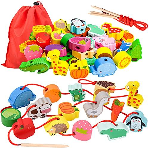 Geschenk für 1-3 Jährige Mädchen Junge, Holzspielzeug...