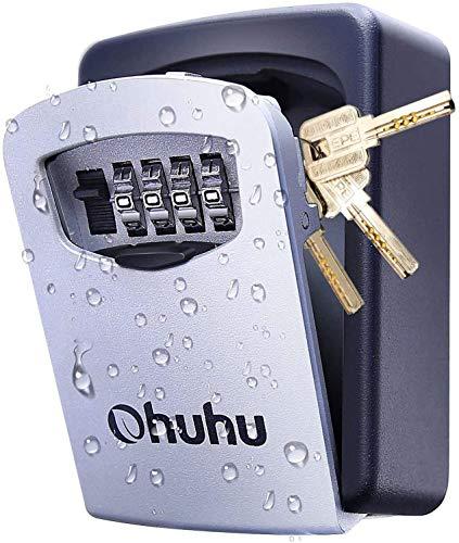Schlüsseltresor mit 4-Stelligem Zahlencode, Ohuhu Schlüsselsafe...