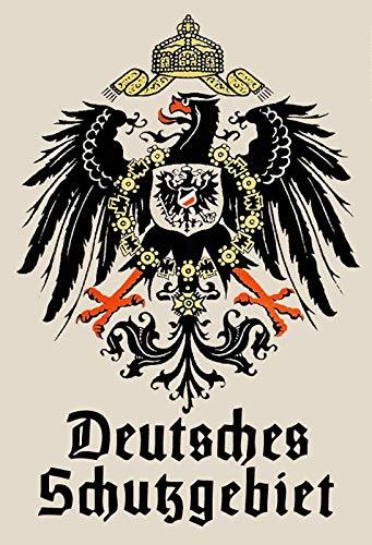 Schatzmix Blechschild Retro Deutsches Schutzgebiet Metallschild...