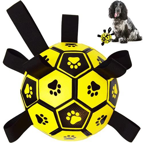 Hundespielzeug – Hundefußball mit Greif-Laschen für...